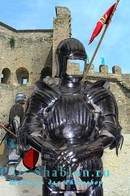 Шаблон для фото Рыцарь в доспехах