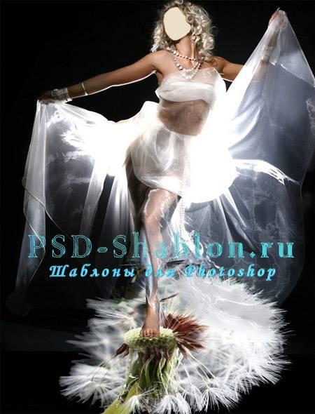 PSD шаблон Балерина