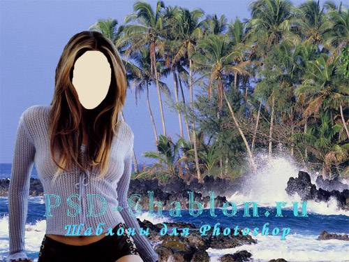 PSD костюм Девушка на необитаемом острове