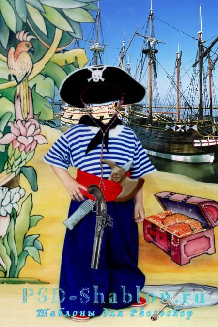 Шаблон для фото Малыш - Пират