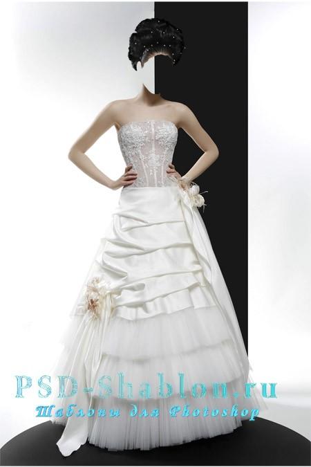 Свадебный PSD шаблон Невеста