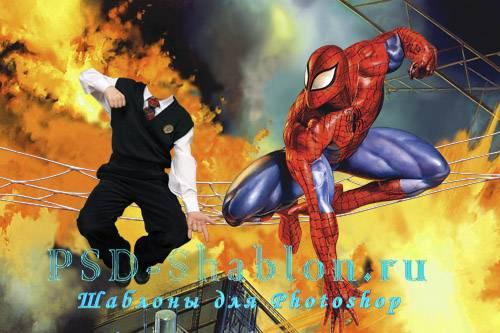 Детский PSD шаблон Человек-паук