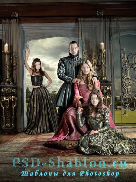 Семейный шаблон для фото Историческая семья