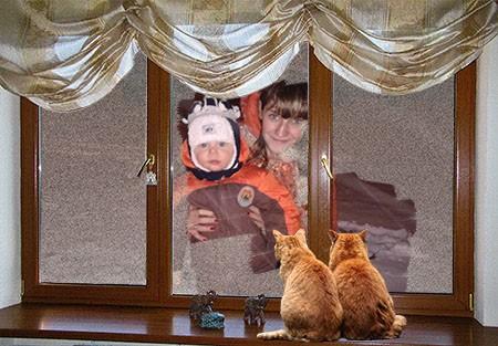 Фоторамка - За окном зима