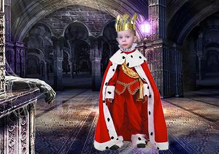Детский фотошаблон - Юный король