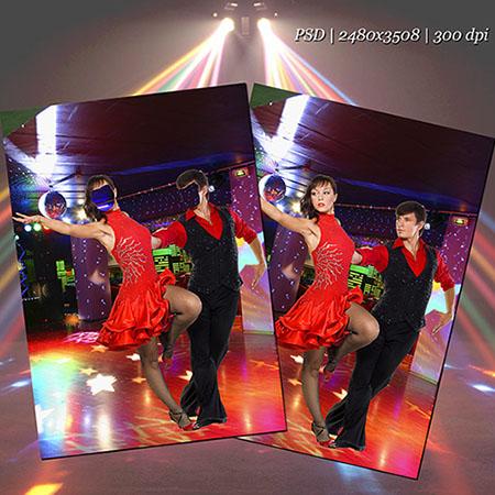 Парный шаблон psd - Танец страсти