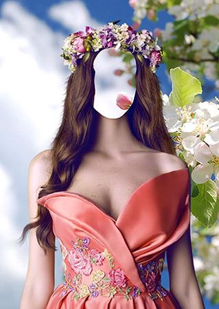 Фотошаблон - Девушка-весна