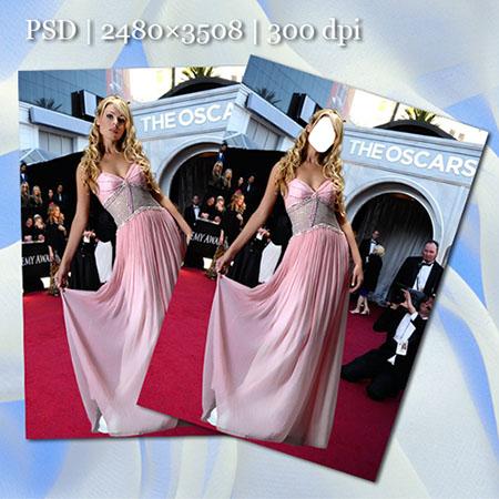 Женский фотошаблон - На церемонии вручения «Оскар»