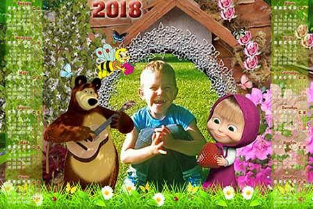 Календарь-рамка - Маша и медведь