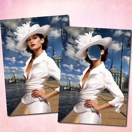 Женский фотошаблон - В Санкт-Петербурге