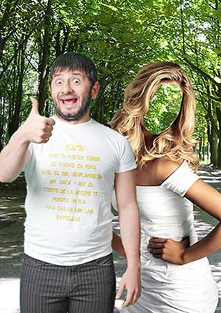 Женский фотошаблон - На прогулке с Галустяном