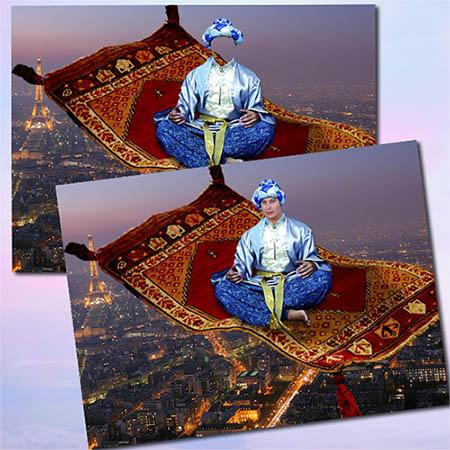 Костюм для фотомонтажа - Джин над Парижем