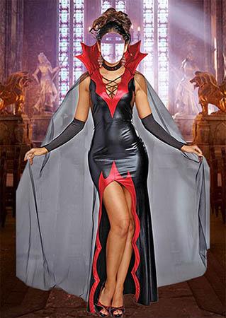 Женский фотошаблон - Прекрасная вампирша