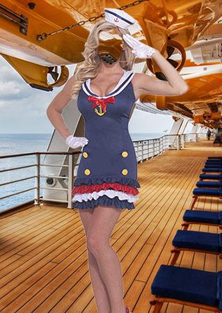 Костюм морячки - Женский фотошаблон