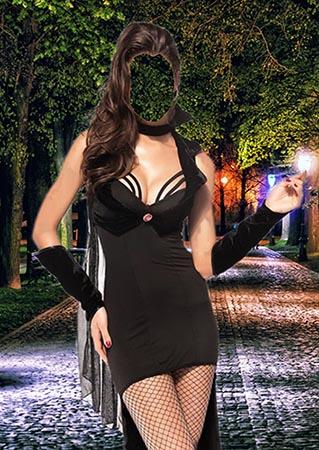 Женский фотошаблон - Графиня ночи
