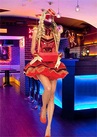 Винтажный костюм для фотомонтажа - Сигаретная официантка