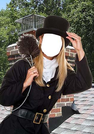 Очаравательный трубочист - Женский фотошаблон