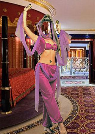 Фотошаблон - В костюме восточной танцовщицы