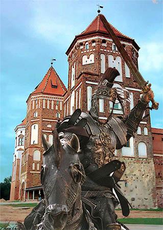 Мужской фотошаблон - Рыцарь на коне