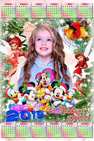 Календарь на 2019 год - Диснеевские мультяшки