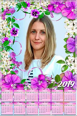 Настенный календарь на 2019 год - Цветочная композиция
