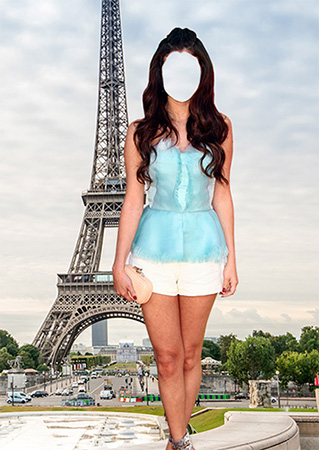 Костюм для фотомонтажа - Красотка в Париже