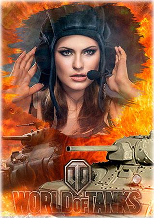Рамка для фотошопа - Игрок World of Tanks