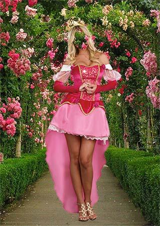 Костюм для фотомонтажа - Принцесса в летнем саду