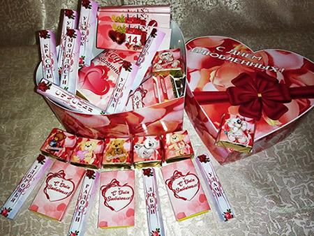 Коробка для шоколада - Большое сердце