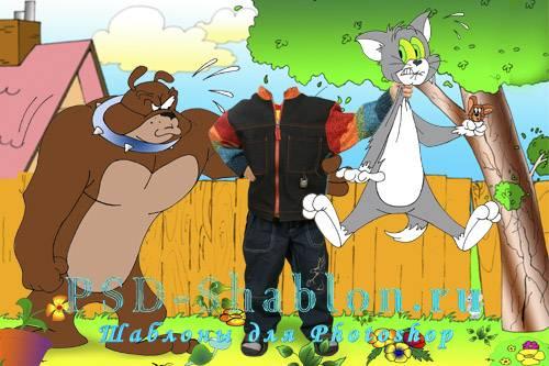 Детский костюм для фотошопа Том и Джерри