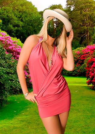 Костюм для фотомонтажа - В летнем саду