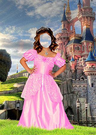 Костюм для фотошопа для девочки - Принцесса